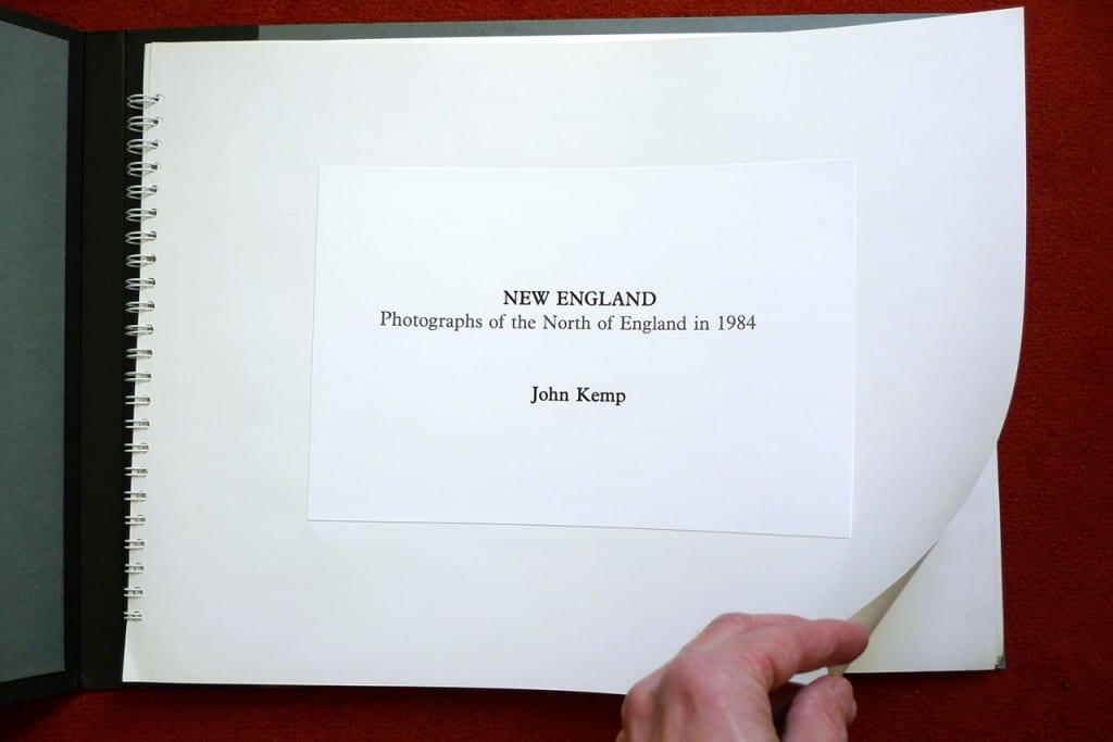 "Title page of the original ""New England"" book, 1985."