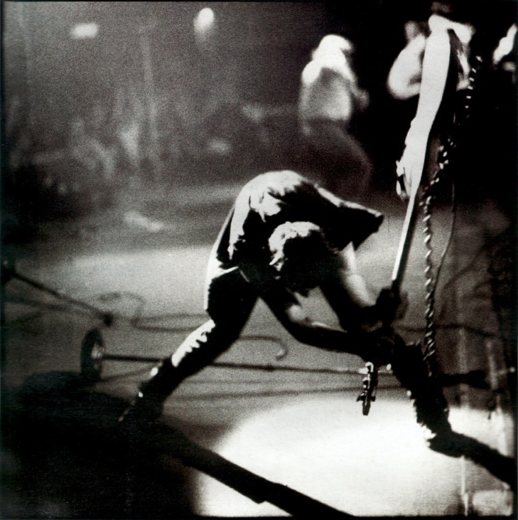 "The classic Pennie Smith photo used for the cover of ""London Calling"" by The Clash."