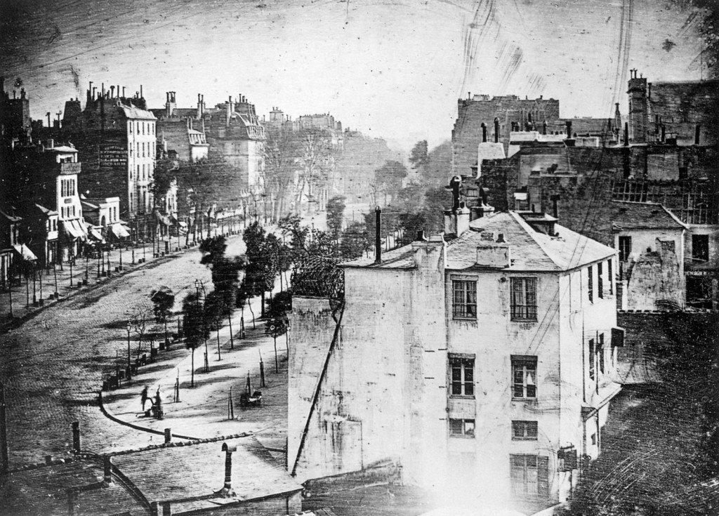 Boulevard du Temple by Daguerre, 1841