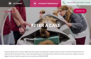 screen shot of vet website, showing photos by freelance photographer John Kemp of JK Photography