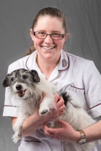 Veterinary nurse with her dog