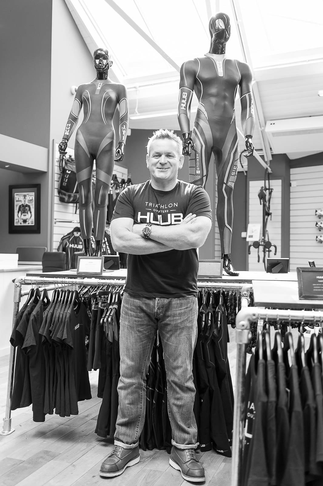 Dean Jackson, owner of Huub Sportswear, Derby