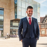 Young business man, shot for the University of Derby Business School