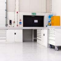 Industrial storage units at Derby iHub for Polstore