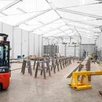 Workshop interior for HTS Temporary Buildings