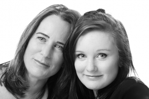 portrait photographer, portrait photography derby, Studio family portrait of a mother and daughter: Angela and Fran